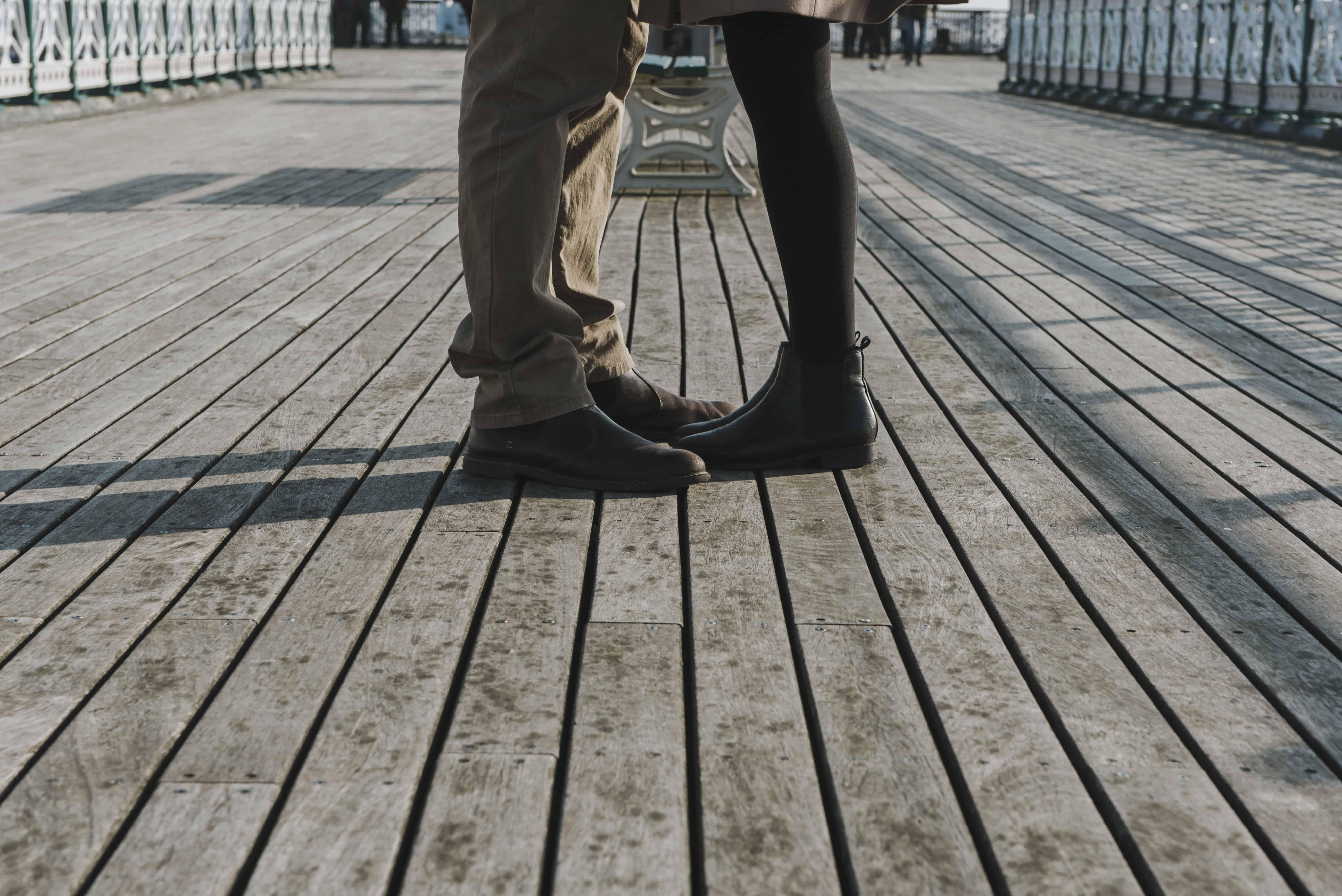 Couple stood on a pier
